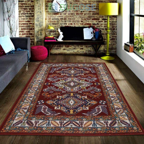 MS RUGS Persian Style Traditional Oriental Medallion Area Rug KLM 50 Kilim KLM Collection 2