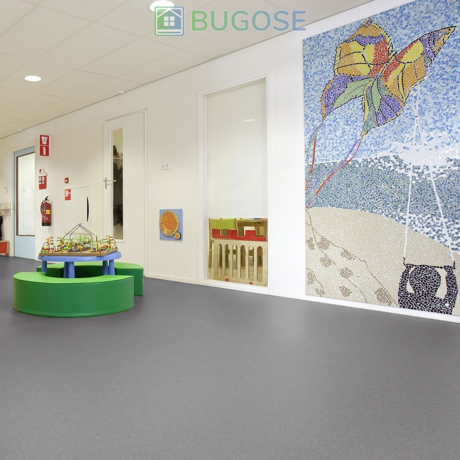 Sheet Vinyl Commercial Flooring Forbo Sphera Element Collection Anthracite 50006 Education Nursery Scene 2