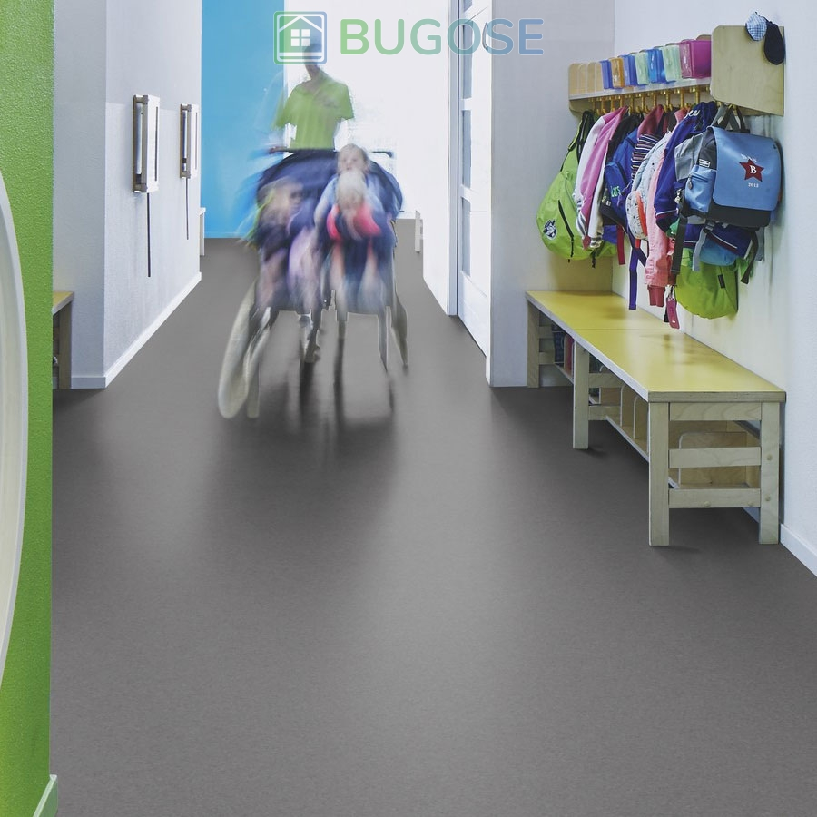 Sheet Vinyl Commercial Flooring Forbo Sphera Element Collection Anthracite 50006 Education Nursery Scene 3
