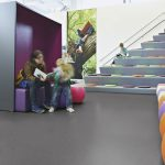 Sheet Vinyl Commercial Flooring Forbo Sphera Element Collection Anthracite 50006 Education Nursery Scene 4