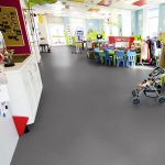 Sheet Vinyl Commercial Flooring Forbo Sphera Element Collection Anthracite 50006 Education Nursery Scene 5