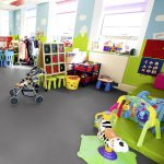 Sheet Vinyl Commercial Flooring Forbo Sphera Element Collection Anthracite 50006 Education Nursery Scene 6