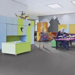 Sheet Vinyl Commercial Flooring Forbo Sphera Element Collection Anthracite 50006 Education Nursery Scene 7