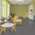 Sheet Vinyl Commercial Flooring Forbo Sphera Element Collection Anthracite 50006 Education Nursery Scene 8