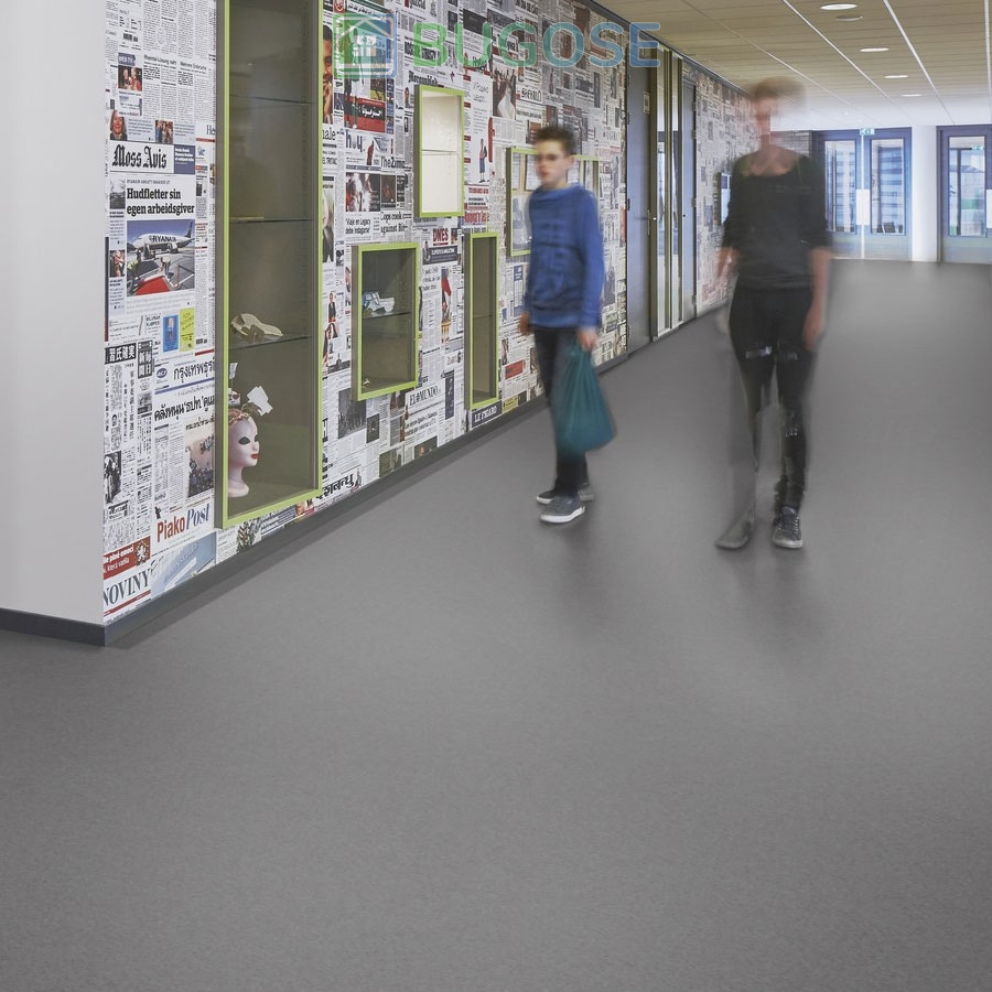 Sheet Vinyl Commercial Flooring Forbo Sphera Element Collection Anthracite 50006 Education School Scene 2