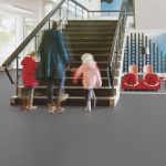 Sheet Vinyl Commercial Flooring Forbo Sphera Element Collection Anthracite 50006 Education School Scene 3