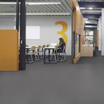 Sheet Vinyl Commercial Flooring Forbo Sphera Element Collection Anthracite 50006 Education University Scene 1