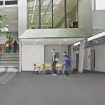 Sheet Vinyl Commercial Flooring Forbo Sphera Element Collection Anthracite 50006 Education University Scene 10