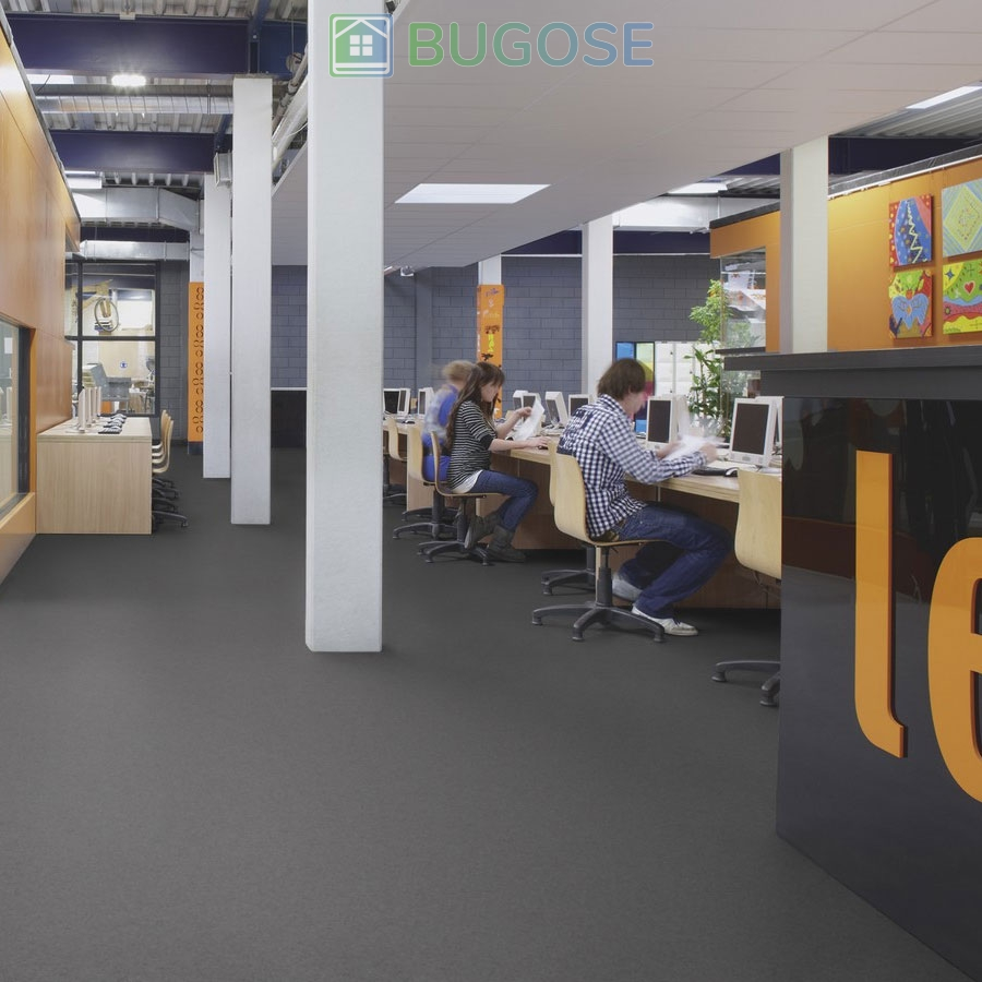 Sheet Vinyl Commercial Flooring Forbo Sphera Element Collection Anthracite 50006 Education University Scene 2