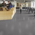 Sheet Vinyl Commercial Flooring Forbo Sphera Element Collection Anthracite 50006 Education University Scene 4