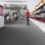 Sheet Vinyl Commercial Flooring Forbo Sphera Element Collection Anthracite 50006 Education University Scene 6