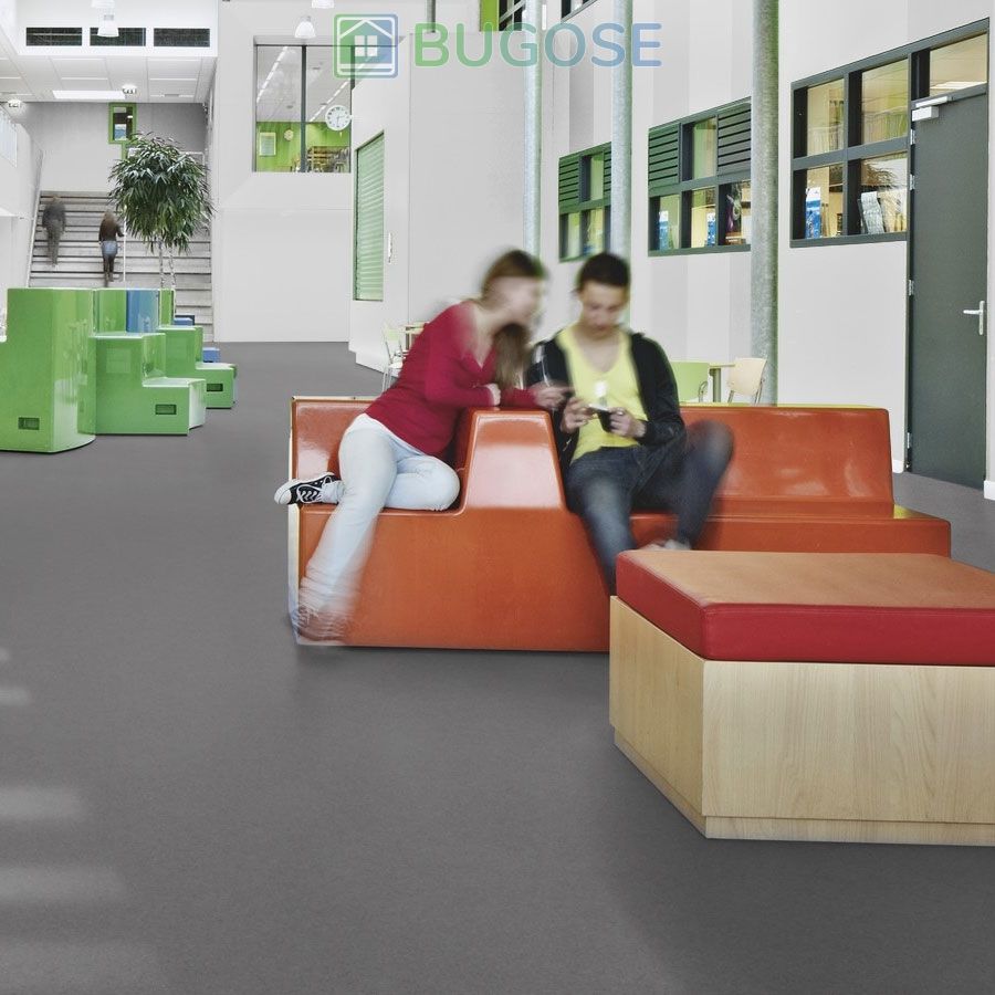 Sheet Vinyl Commercial Flooring Forbo Sphera Element Collection Anthracite 50006 Education University Scene 8