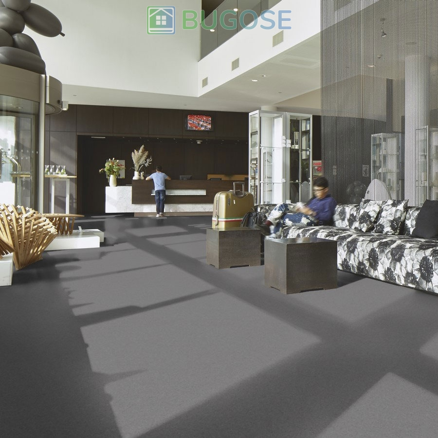 Sheet Vinyl Commercial Flooring Forbo Sphera Element Collection Anthracite 50006 Hospitality Scene 1