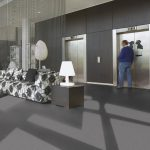 Sheet Vinyl Commercial Flooring Forbo Sphera Element Collection Anthracite 50006 Hospitality Scene 2