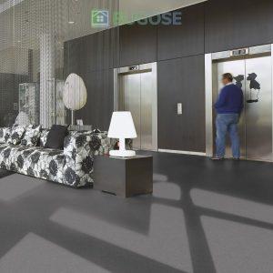 Sheet Vinyl Commercial Flooring Forbo Sphera Element Collection Anthracite 50006 Hospitality Scene 2