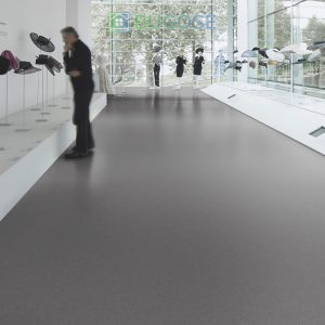 Sheet Vinyl Commercial Flooring Forbo Sphera Element Collection Anthracite 50006 Hospitality Scene 4