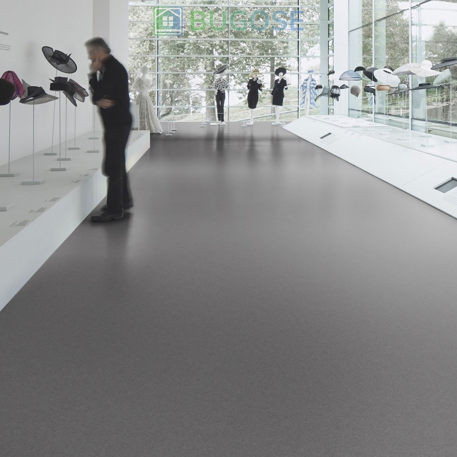 Sheet Vinyl Commercial Flooring Forbo Sphera Element Collection Anthracite 50006 Hospitality Scene 4