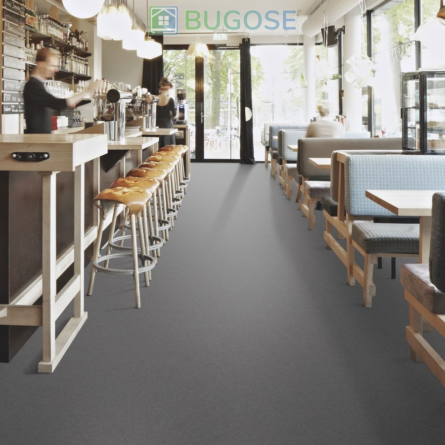 Sheet Vinyl Commercial Flooring Forbo Sphera Element Collection Anthracite 50006 Hospitality Scene 5