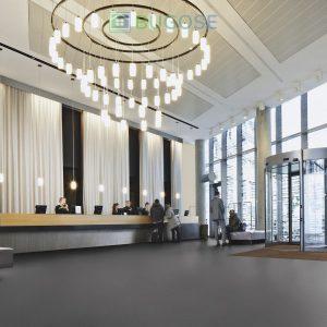 Sheet Vinyl Commercial Flooring Forbo Sphera Element Collection Anthracite 50006 Hospitality Scene 6