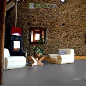 Sheet Vinyl Commercial Flooring Forbo Sphera Element Collection Anthracite 50006 Hospitality Scene 8